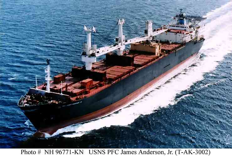 USNS PFC James Anderson, Jr. (T-AK-3002), 1985-____